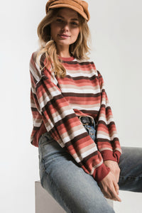 z supply stripe pullover. Jolie Folie boutique