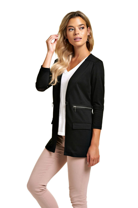 Schwiing black jacket. Jolie folie boutique