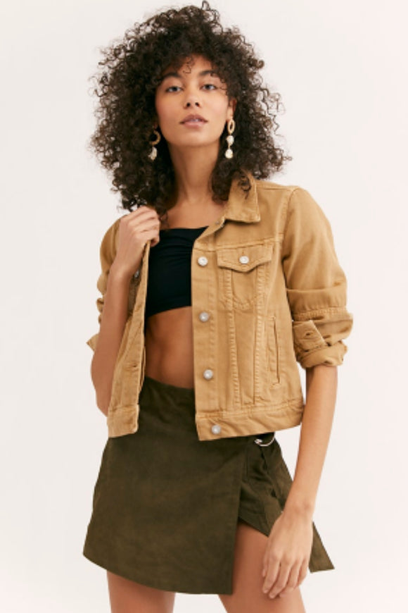 Rumors Denim Jacket - Sand | Free People