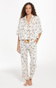 safari satin pj set by z supply