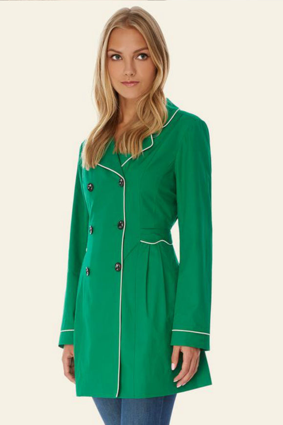 Scallop Trench Coat | Yumi