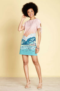 Seaside Scene Tunic Dress | Yumi