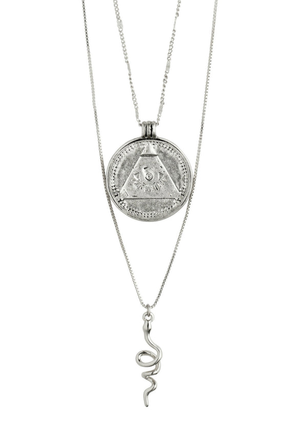 Sensitivity 2-in-1 Necklace - Silver | Pilgrim