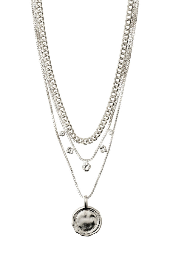 2-in-1 Necklace Set - Silver | Pilgrim