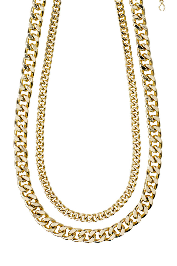 2-in-1 Necklace Set Water - Gold | Pilgrim