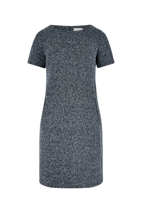 Textured Shift Dress | Apricot