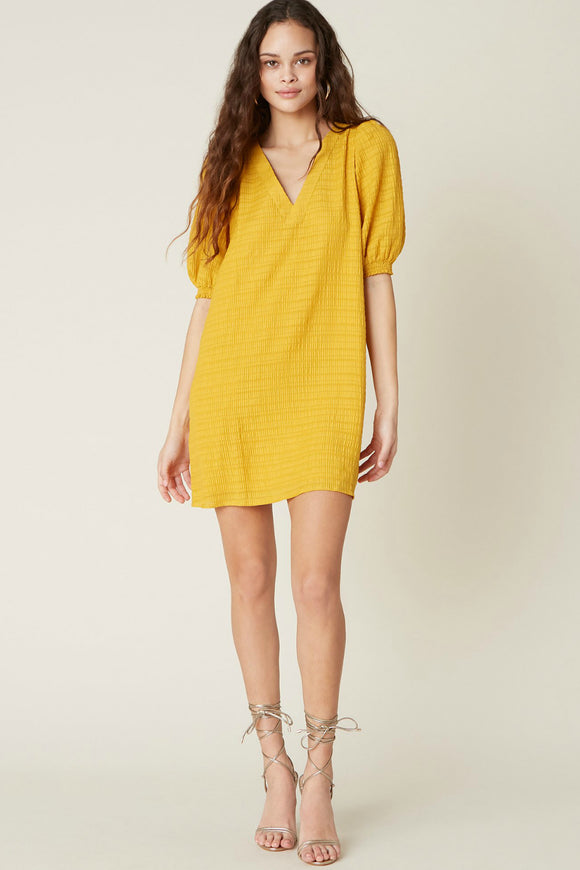 bb dakota yellow shift dress