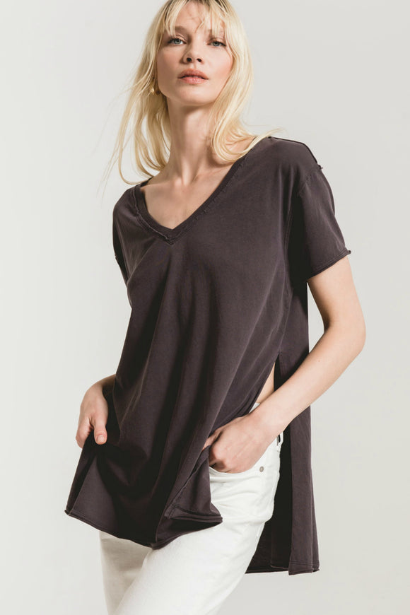Organic Cotton Side Slit Tunic - Graphite | Z Supply