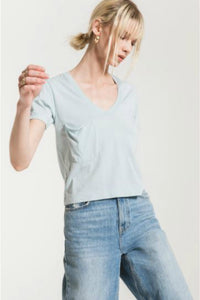 Z supply skimmer cropped tee. Jolie folie boutique