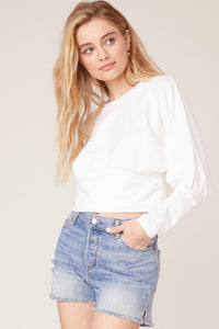 Sleeve Me Be Top - White | BB Dakota