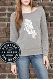 Small Town Girl Wide Neck Sweatshirt