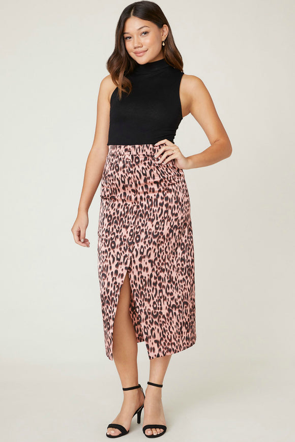 bb dakota spotty by nature leopard midi skirt. Jolie folie boutique