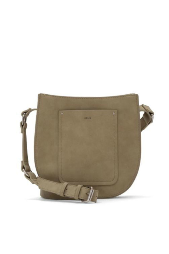 Suede Saddle Crossbody - Rosemary | Colab
