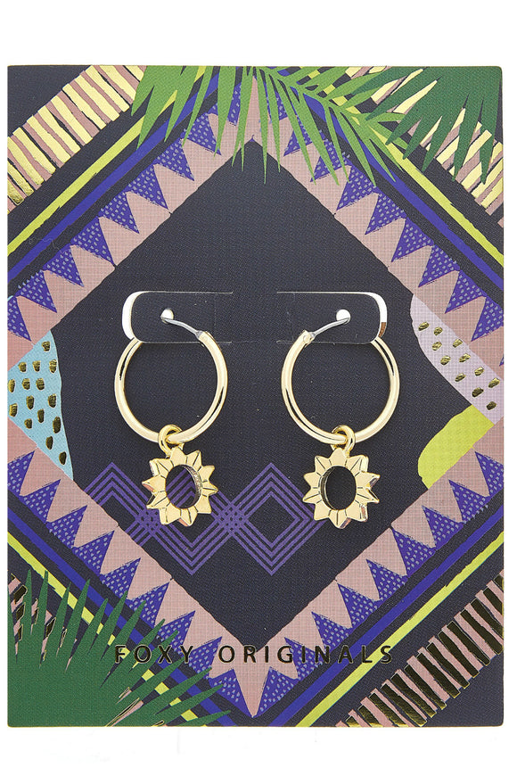 Sun earrings in Gold | Foxy Originals