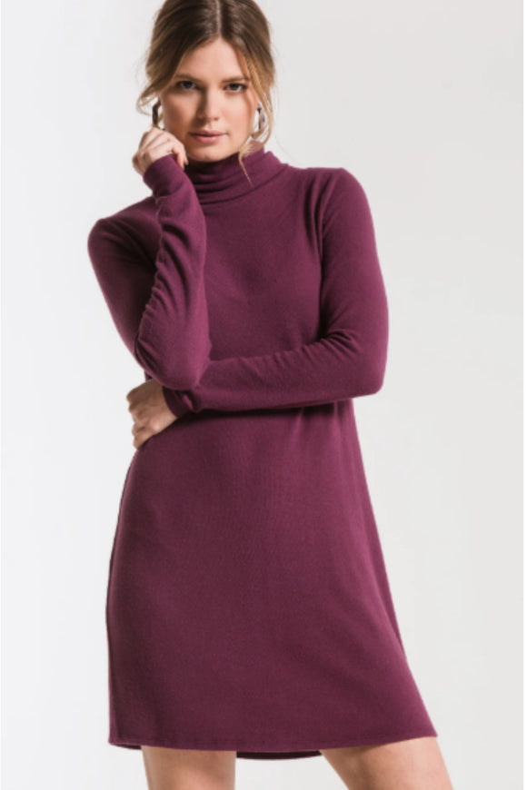 Z Supply sweater turtleneck dress. Jolie folie boutique