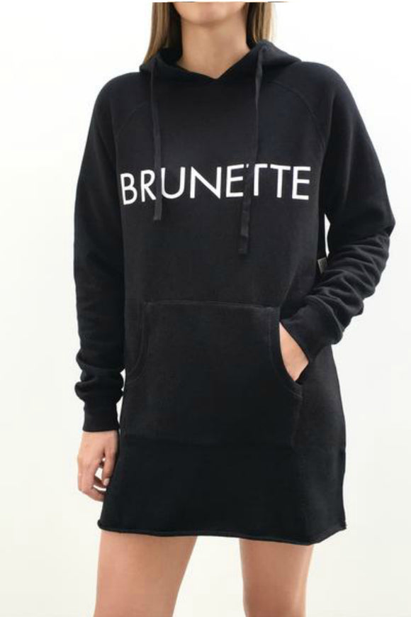 The Hoodie Dress - BLACK/BRUNETTE - Women's Winter Wear - Jolie Folie