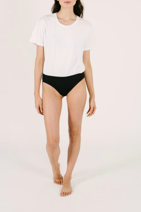 The T-Shirt Bodysuit - White | Smash + Tess