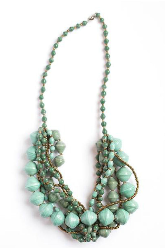 Teal and Green Chunky Necklace | Just One