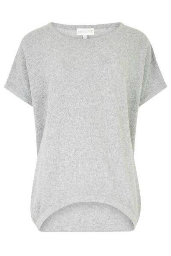 Textured Curved Hem Tee | Apricot