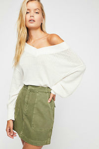 The Free South Side Thermal Top - Ivory | Free People