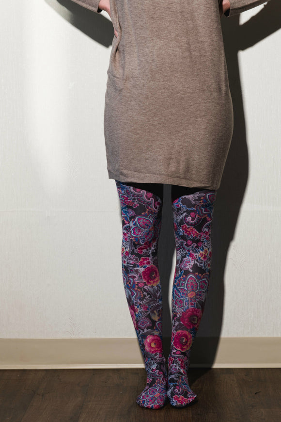Printed tights - Celeste stein