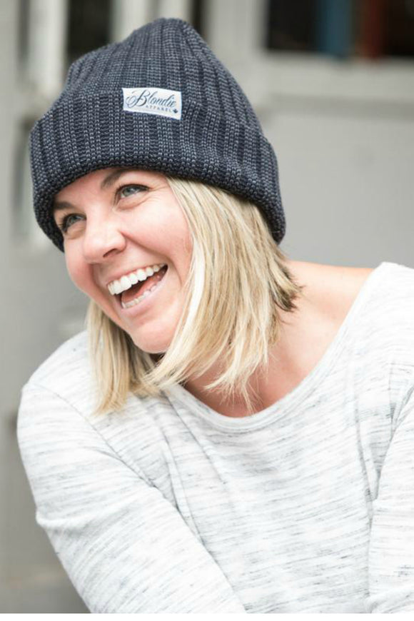 Thick Rib Navy Toque | Blondie Apparel
