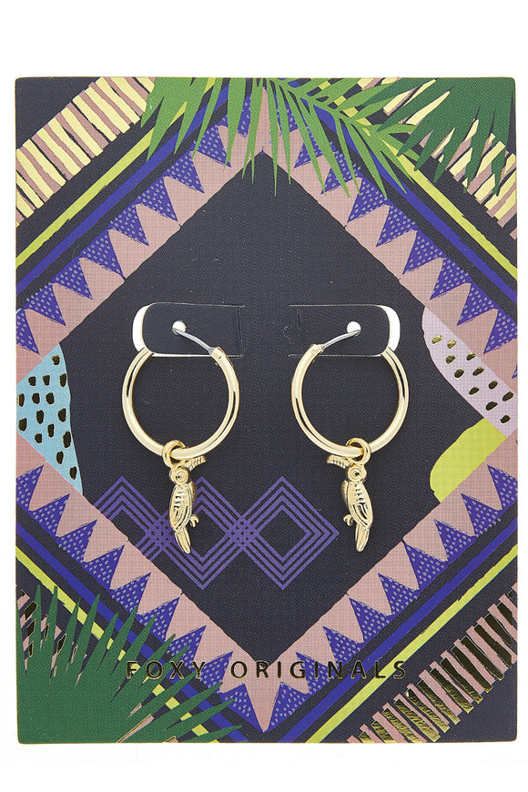 Toucan Earrings in Gold | Foxy Originals