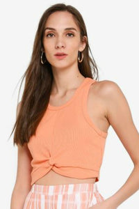 Coral twist tank by minkpink
