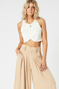 minkpink white crop tank top