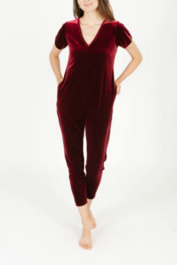 smash and tess merlot velvet sunday romper