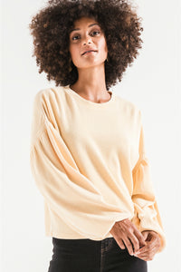 The Gathered Sleeve Waffle Top | Z Supply