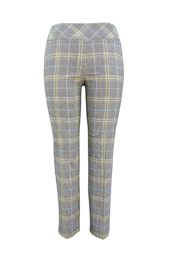 Plaid pull-on trouser by Up Pants.