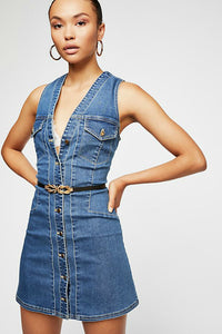 Wandering Star Denim Mini Dress | Free People