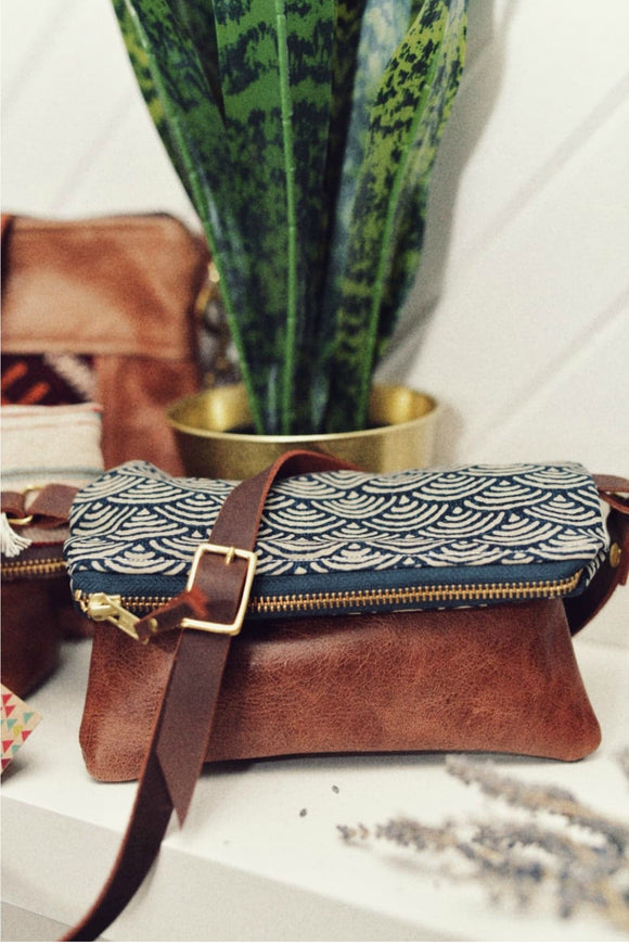Small Boho Purse - Wave Print | Grace Design