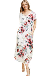 Sondra Slip White Maxi Dress