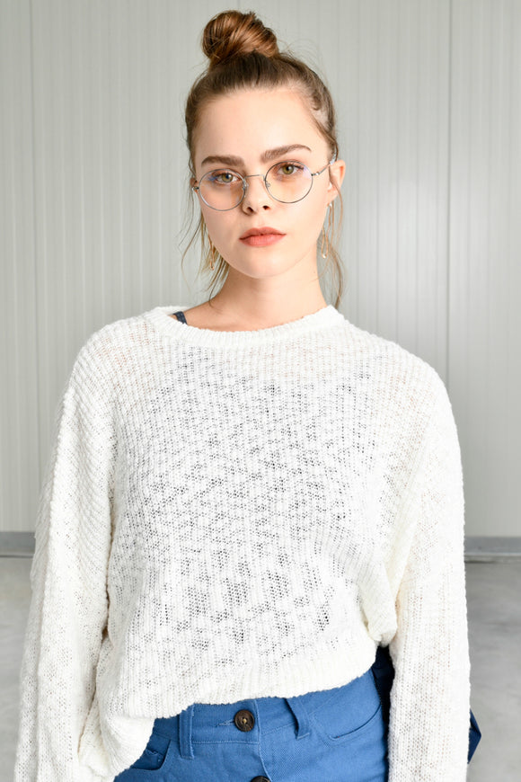 White Knit Sweater | 24 Colours