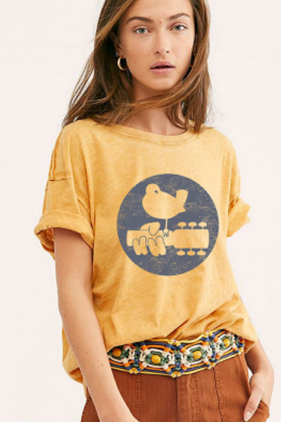 Woodstock Clarity Ringer Tee - Orange | Free People