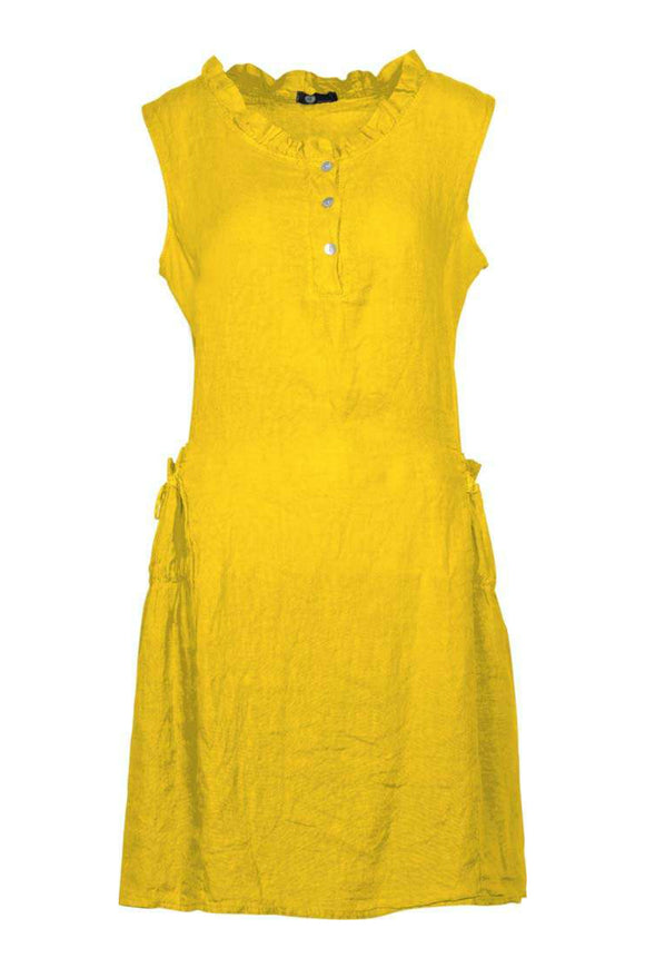 Sleeveless Linen Dress | M Italy