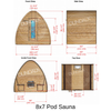 Dundalk Leisure Craft Knotty Cedar POD Sauna - My Sauna World