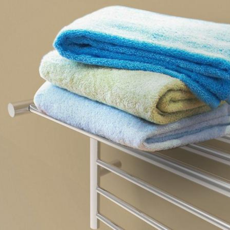 Amba Radiant Shelf Heated Towel Rack - My Sauna World