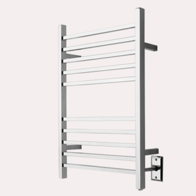 Amba Radiant Square Hardwired Heated Towel Rack - My Sauna World