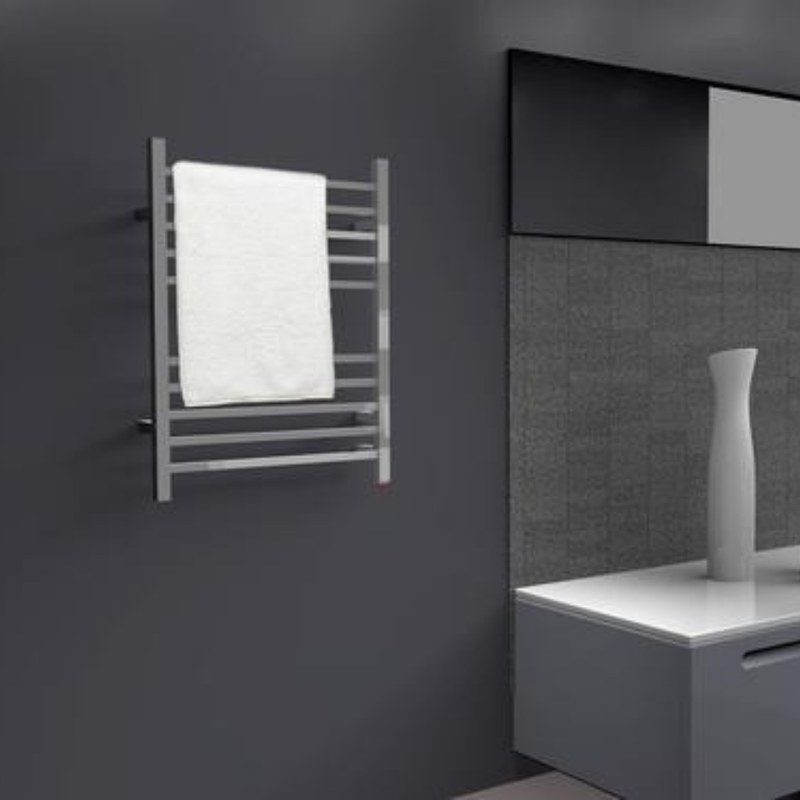 Amba Radiant Square Plug-In Heated Towel Rack - My Sauna World
