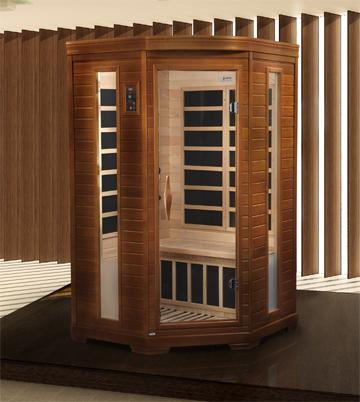 Dynamic Saunas 2-Person Far Infrared Sauna LeMans Edition DYN-6225-02 - My Sauna World