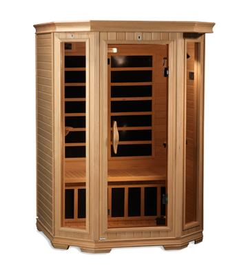 Golden Designs 2 Person Corner Carbon Far Infrared Sauna GDI-6272-01
