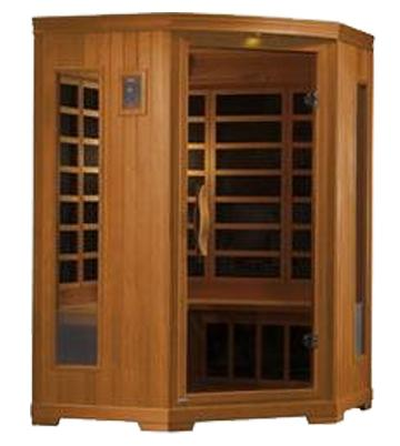 Golden Designs 3 Person Corner Carbon Far Infrared Sauna GDI-3356-01 - My Sauna World