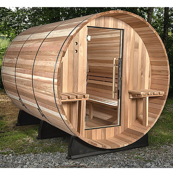 Almost Heaven Huntington Canopy Barrel  6 Person Sauna - My Sauna World