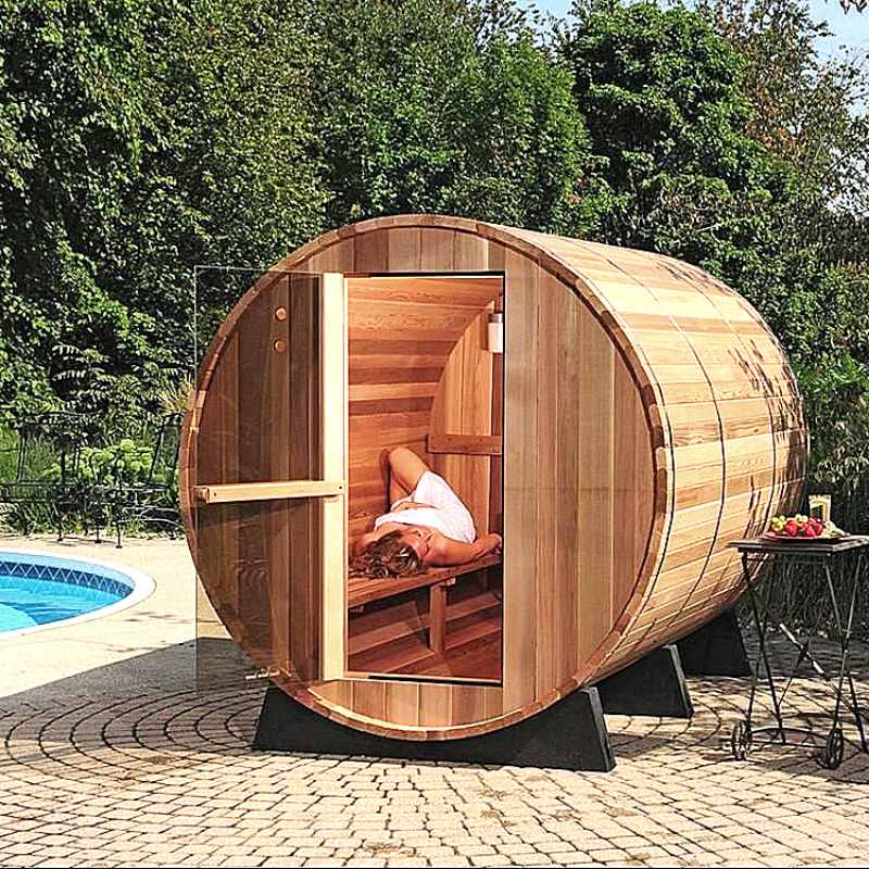 Almost Heaven Lewisburg 8 Person Standard Barrel Sauna - My Sauna World