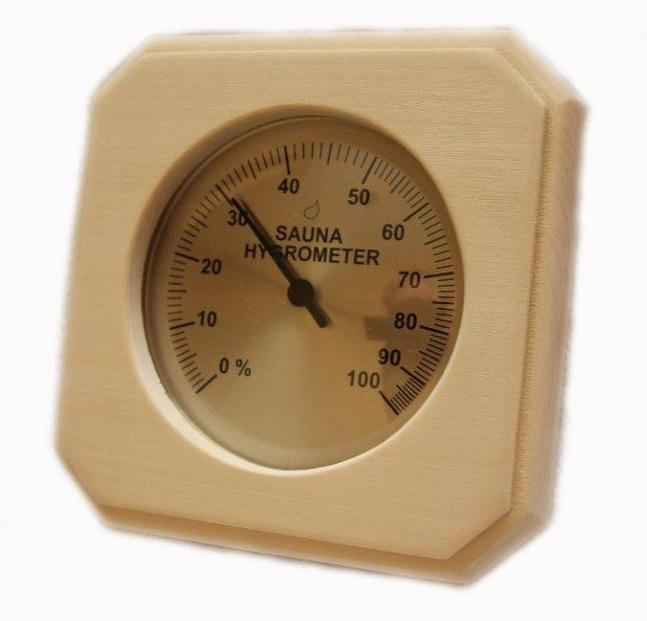 Baltic Leisure Sauna Deluxe Wood Hygrometer PS Sauna Accessory - My Sauna World