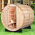 Almost Heaven Pinnacle 4-Person Standard Barrel Sauna With Himalayan Salt Wall + Accessories Deluxe Package - My Sauna World