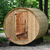 Almost Heaven Princeton 6 Person Standard Barrel Sauna With Vista Window + Accessories Deluxe Package - My Sauna World